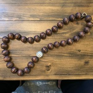 Vineyard Vines Large Wooden Bead Necklace